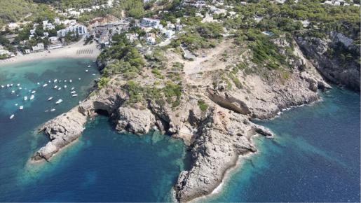 Imagen aérea de la parcela de Port d'es Nebot.