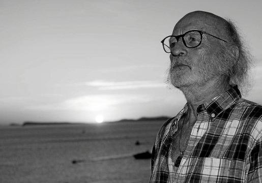 Juan Blanco en la Malvin Gallery de Madrid.