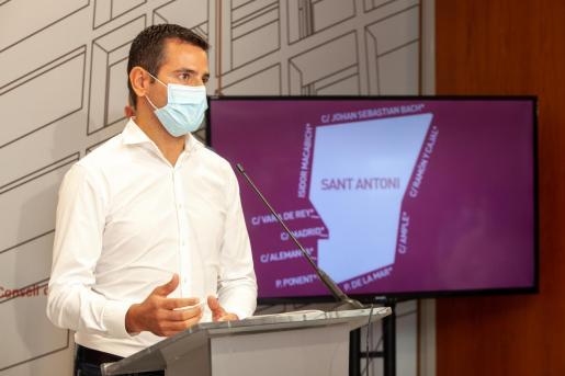 Marcos Serra, durante su intervención de ayer.