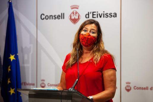Patricia Gómez durante la rueda de prensa celebrada el miércoles en el Consell de Ibiza.