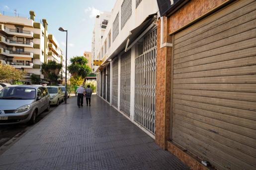 Zona confinada de Vila, durante el primer día de las nuevas medidas.