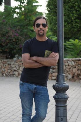 Danilo Martínez, ayer por la tarde en el pueblo de Sant Llorenç.