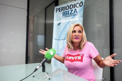 Marta Díaz, durante una entrevista en Periódico de Ibiza y Formentera.