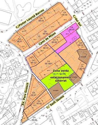 Mapa del plan para la zona de Puig de Missa.