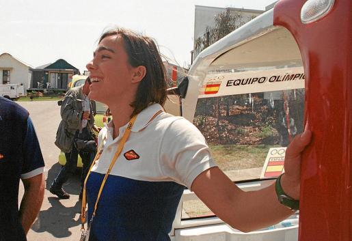 Mar Sánchez, en la villa olímpica de los Juegos de Sídney'00.