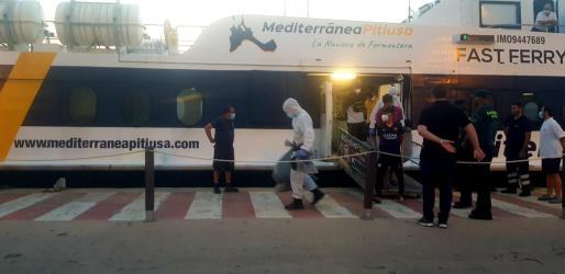 Imagen de los migrantes llegando a Ibiza.