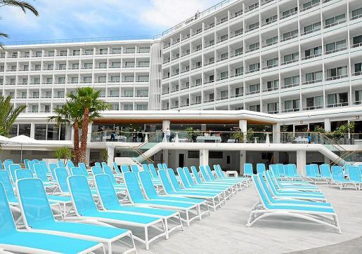 Imagen de archivo de un hotel vacío de turistas durante la pandemia en Ibiza.