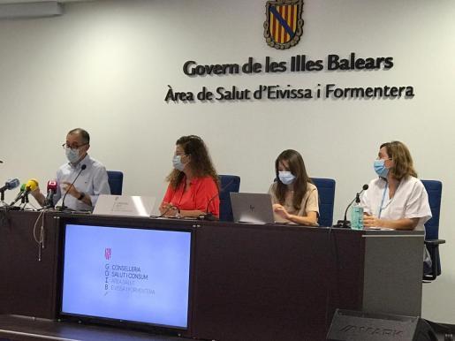 Imagen de la rueda de prensa que se celebra en Ibiza.