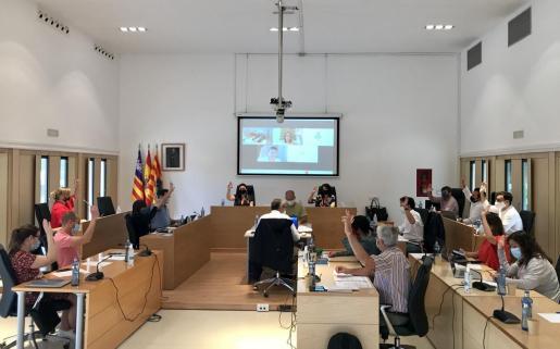 Una imagen del pleno del Consell de Formentera.