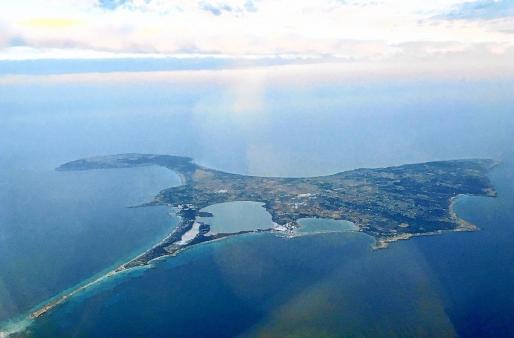 Vista aérea de Formentera.