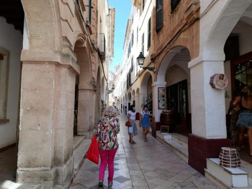 Calles peatonales del centro de Ciutadella.