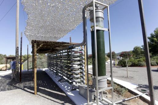 El fotobiorreactor absorbe el CO2 con el que se impulsan las microalgas que se usan para abono.