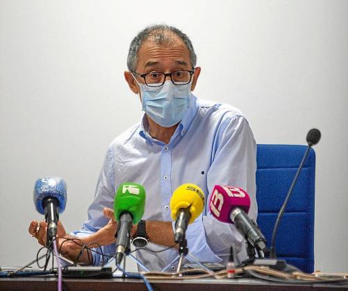 El doctor Javier Arranz, en su última visita a Ibiza.