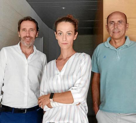 José Ozonas, Maite Calleja y Tomeu Ozonas, de O-zink.