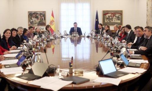 Una imagen de archivo del Consejo de Ministros.