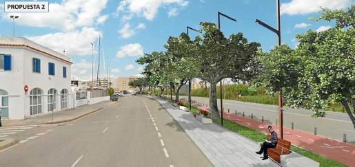 Recreación del resultado de la remodelación de la avenida de Santa Eulària.