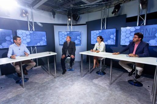 Marcos Serra, ayer en el BNP de Televisió d'Eivissa i Formentera.