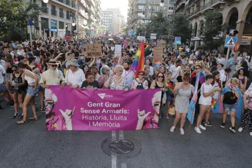 Imagen de la manifestación del día del Orgullo LGTBI de 2019 en Palma.
