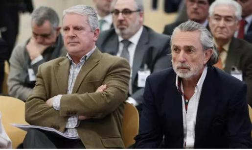 Álvaro Pérez Alonso 'El Bigotes', Pablo Crespo y Francisco Correa en el juicio que se celebra en la Audiencia Nacional.
