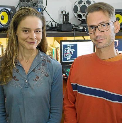 Marta Rupérez y Caen Botto, miembros de Nourathar.