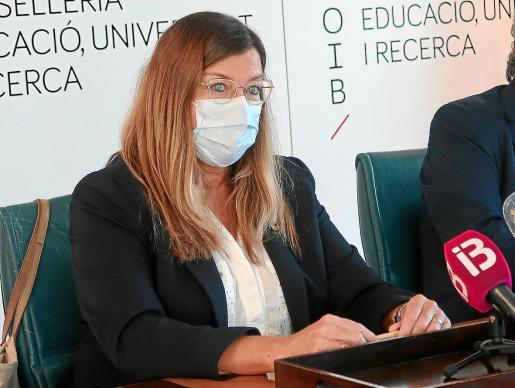 Patricia Gómez ayer, durante la rueda de prensa sobre el inicio del curso escolar.