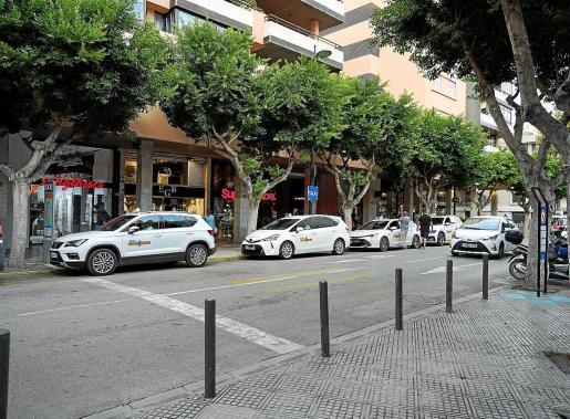 Una de las paradas de taxis de Vila.