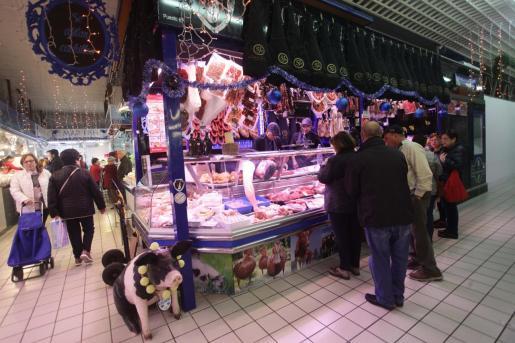 El Mercat Nou de Vila durante la pasada Navidad.