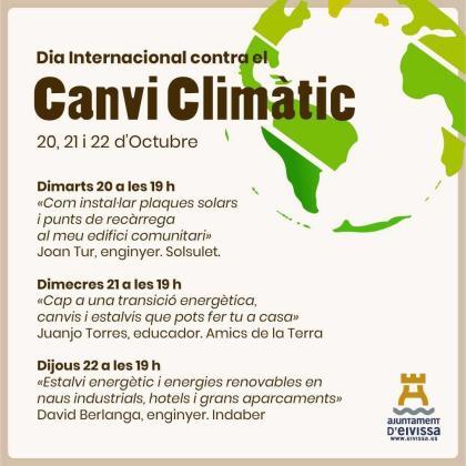 Programa para celebrar el Día Internacional contra el Cambio Climático.