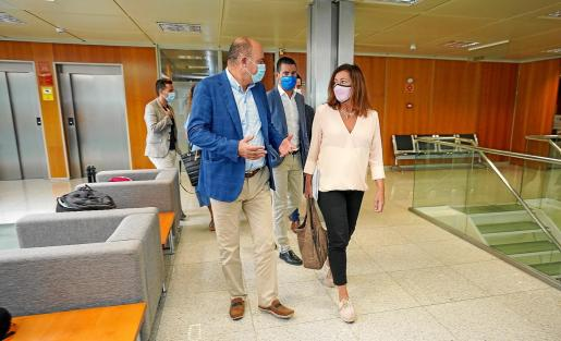 Vicent Marí y Francina Armengol, durante la última visita de la presidenta a Ibiza.