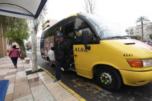 Una de las líneas de autobús urbano de Vila en una imagen de archivo.