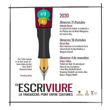 Las conferencias de Escriviure 2020 de Santa Eulària se centran en la traducción literaria.