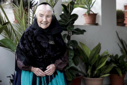 Maria Marí Torres, durante un reportaje publicado en Periódico de Ibiza y Formentera en 2016.
