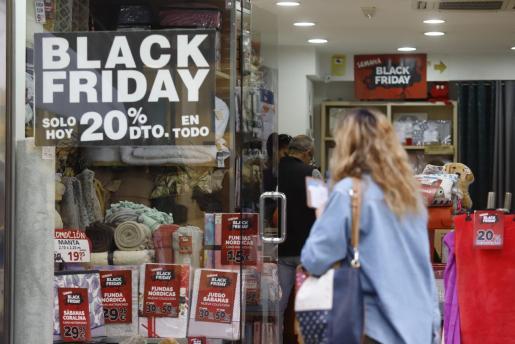 Imagen de la pasada campaña del Black Friday en Palma.