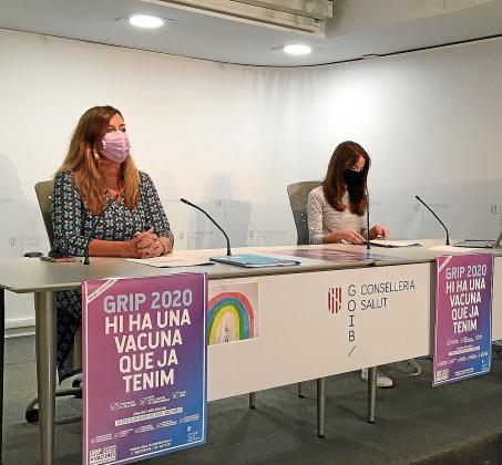 Patricia Gómez y Margalida Frontera, durante la rueda de prensa.