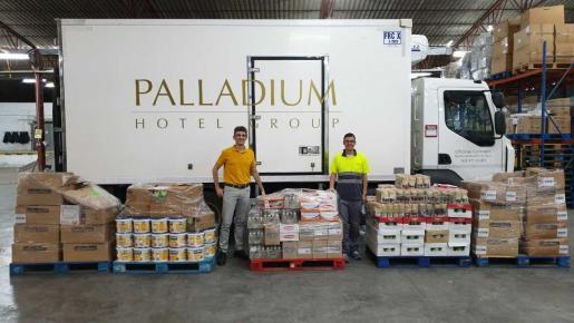 La Fundación Abel Matutes y Palladium Hotel Group han donado más de una tonelada de alimentos.