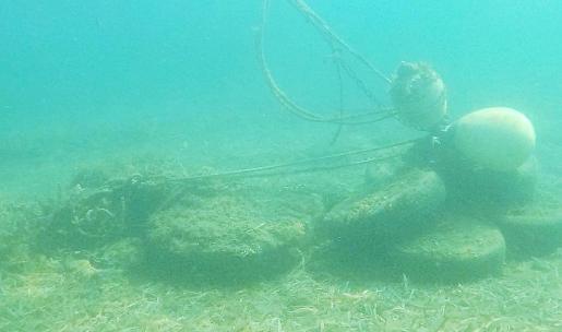 Imagen de uno de los muertos irregulares de la bahía de Portmany.
