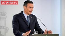 Pedro Sánchez comparece tras el Consejo de Ministros