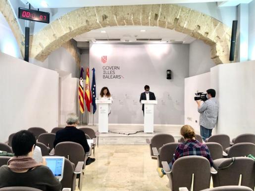 Pilar Costa y Iago Negueruela, en rueda de prensa.