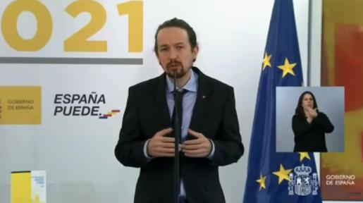 El vicepresidente, durante su intervención.