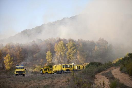 Imagen del incendio que tuvo lugar el 14 de octubre pasado en Puig d'en Botja.