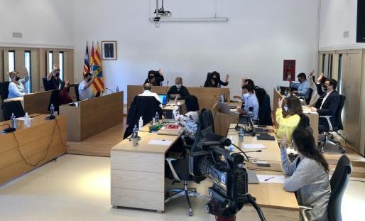 Pleno celebrado este miércoles en el Consell de Formentera.