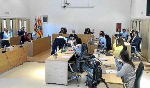 Imagen del pleno del Consell de Formentera celebrado ayer.