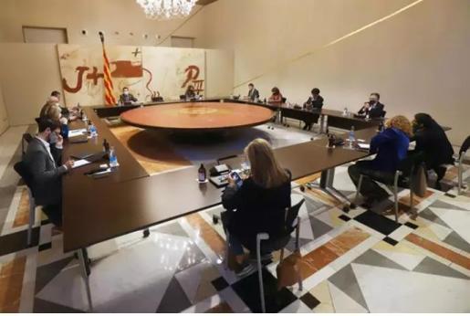 Reunión urgente del Govern del 23 de octubre para debatir si pide al Gobierno decretar el estado de alarma.
