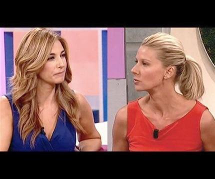 Mariló Montero y Anne Igartiburu, durante la polémica entrevista.