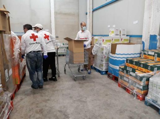 Banco de alimentos de Cruz Roja.
