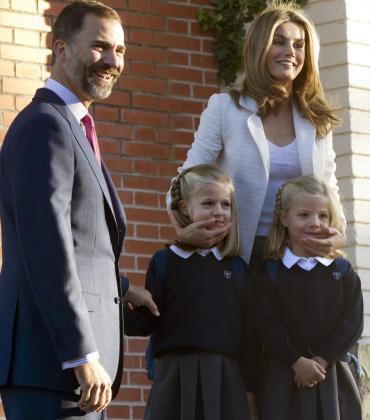 La familia estaba muy sonriente.