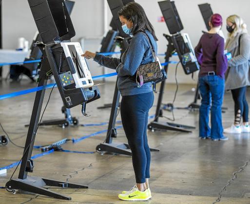 Votaciones, ayer, en Washington DC para los comicios presidenciales.