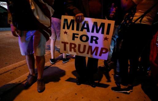 El presidente Donald Trump gana en Florida.