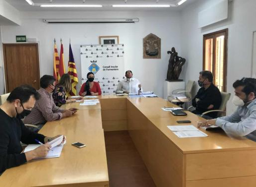 Un momento de la reunión celebrada ayer en Formentera.