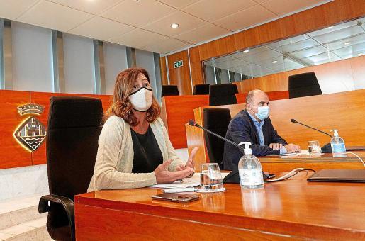 La presidenta del Govern, Francina Armengol, ayer en el Consell.